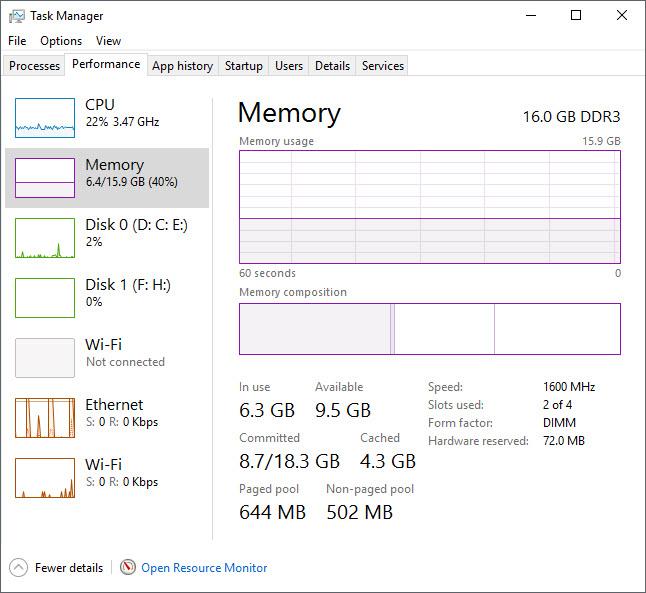 Xem RAM ở Task Manager.