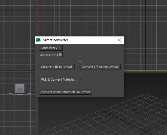 Cách kích hoạt V-Ray vrmat converter trong 3Ds Max