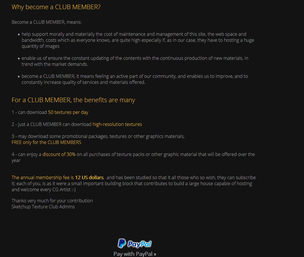 SketchuptextureCLUB com - Website mới của Sketchuptexture com