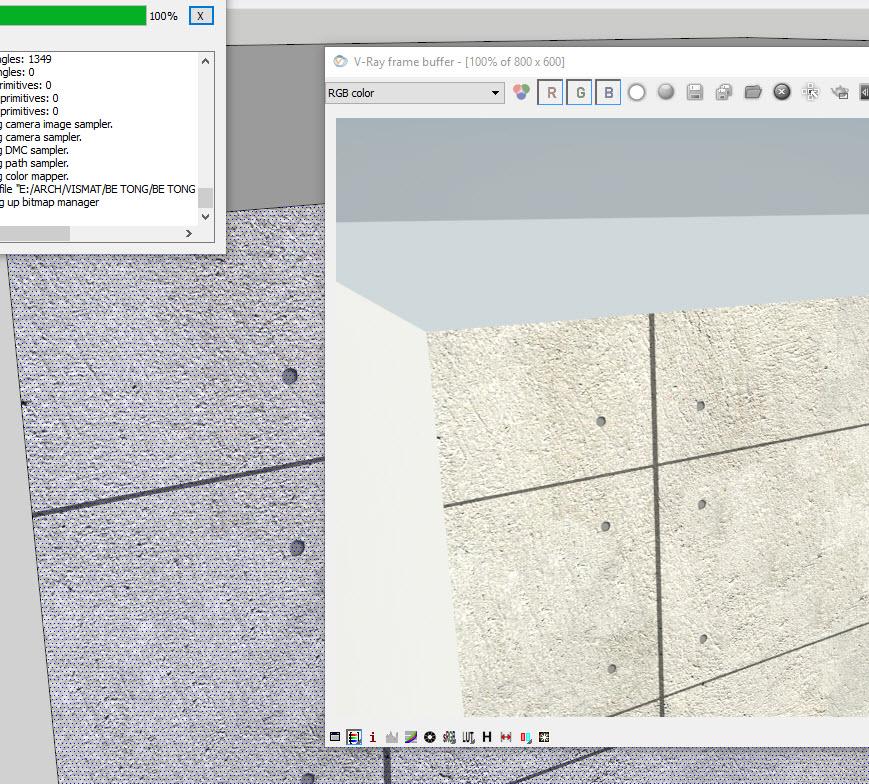 Render thử thư việ vật liệu SketchUp