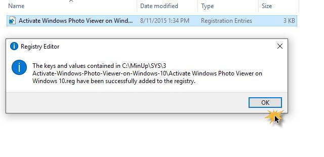 Lấy lại trình xem ảnh Windows 7 trên Windows 10