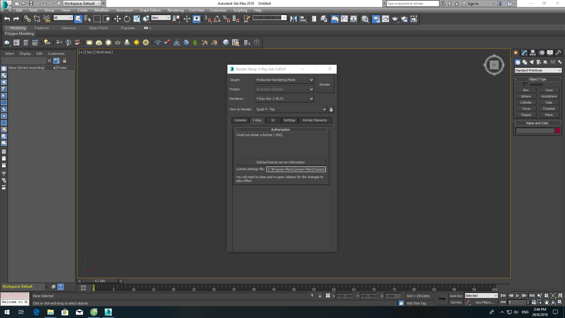 Lưu ý khi dùng Vray 3 4 mở file 3Ds Max cũ