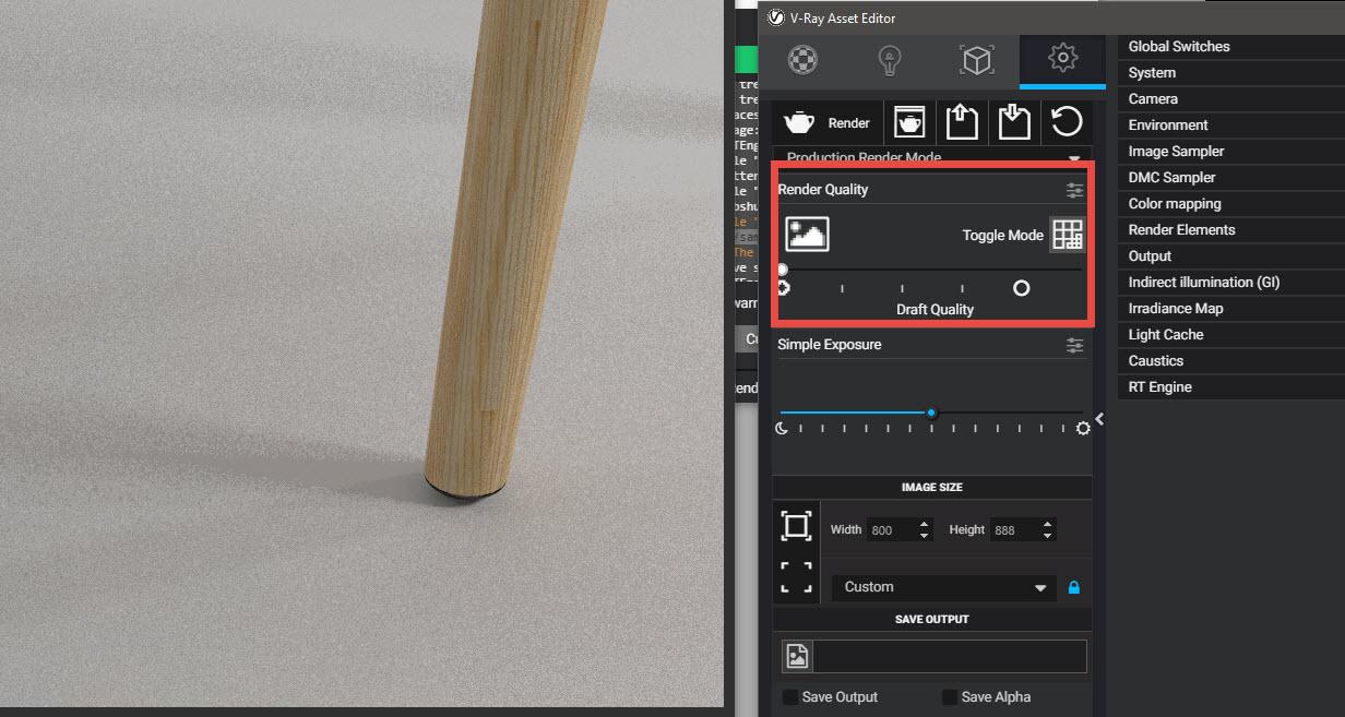 Setting Vray 3.4 SketchUp dễ dàng với Render Quality
