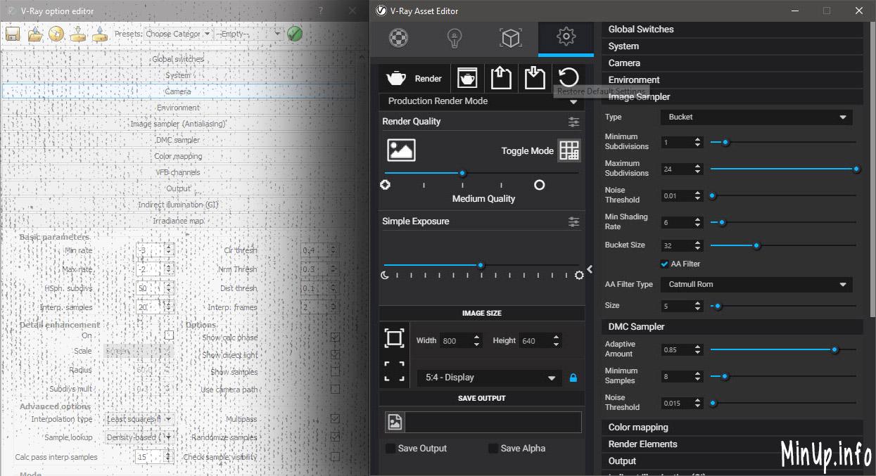 Vray 3.4 SketchUp thay đổi giao diện hoàn toàn.