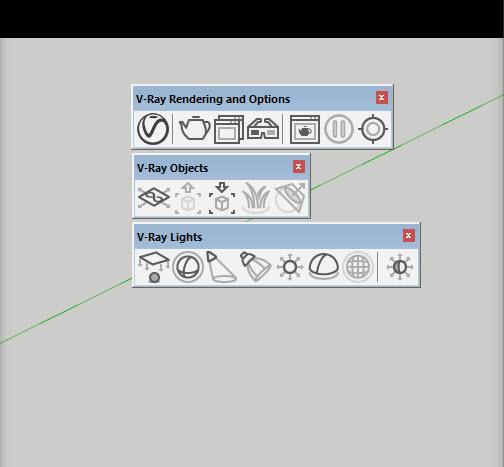 Vray 3.4 SketchUp với bộ icon mới