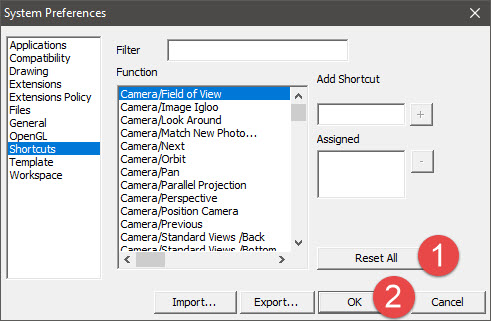 Sửa lỗi không dùng được bàn phím trong SketchUp