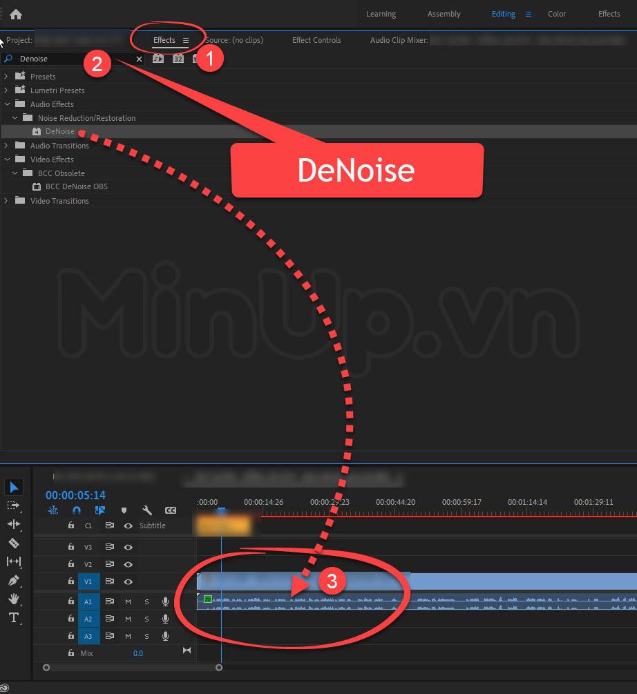 Khử nhiễu tạp âm trong Adobe Premiere cực dễ